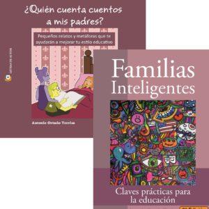 Pack de libros Antonio Ortuño - Quién cuenta cuentos a mis padres y Familias inteligentes